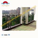 Balcon en verre moderne Balustrade en acier inoxydable