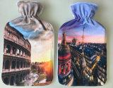 Tampa curta macia colorida do luxuoso para a garrafa de água quente das BS