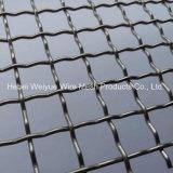 ステンレス鋼の家具製造販売業のためのひだを付けられた平らなワイヤー装飾的な金網