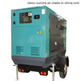25kVA-63kVA Cummins Trailer & insonorizadas generador diesel (equipamiento militar chino)