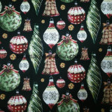 Metallic dorato Printed Cotton Fabric per Christmas Ornament, Party Decoration