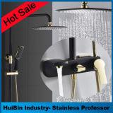 Hotsale fabricación OEM de moda de estilo europeo conjunto completo conjunto de ducha de latón