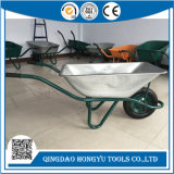 Mercado europeu 75L Serviço pesado bandeja metálica Wheelbarrow Galvanizado