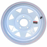 (5-108) белая стальная оправа колеса трейлера 14X6