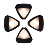 Lumière hexagonale extérieure solaire de mur de la lampe de mur de cru DEL