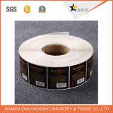 Le code barres auto-adhésif d'impression a estampé l'étiquette de papier de service d'imprimante de collant