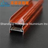 Extrusion en aluminium de profil de guichet de tissu pour rideaux de couleur en bois