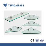 Estantes de vidrio con bordes pulidos agujeros para mostrar