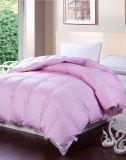 Teste padrão luxuoso da caixa do defletor e do pato Comforter branco do Duvet para baixo
