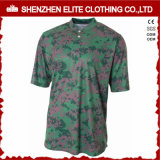 Sublimated Camo Baseball Jerseys com Custom Design
