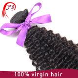 100%の人間の毛髪の拡張カーリーヘアーを編む未加工インドのバージンの毛