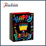 regalos de cumpleaños impresos 4c del papel de marfil pila de discos las bolsas de papel de las compras