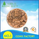 Moneta rotonda con adattamento puro di colore dell'oro di Antiuqe