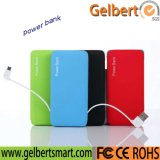 Banco portátil da potência do carregador da bateria do Li-Polímero de Gelbert com RoHS