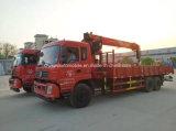 LHD Dongfeng 6*4 10の車輪の高品質クレーントラックによって取付けられるトラック12トンの