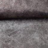 袋の靴のための浮彫りにされたポリエステルPUののどの革ファブリック