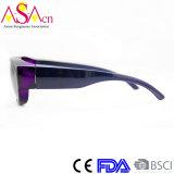 Preiswerte Verkaufs-Entwerfer Form polarisierter PC gepasst über Sonnenbrillen (14186)
