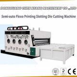 La stampante semiautomatica Slotter del cartone di 2 colori e muore la taglierina