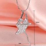 習慣925の純銀製の宝石類の美しいダンサーの形のネックレスの鎖