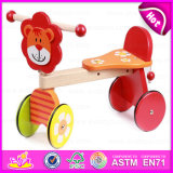 2015卸売Children Baby Trike Toys、Kids、Cute Lion Deisgn Wooden Baby Tricycle Toy W16A014のためのCheap Safety Wooden Tricycle