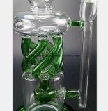 reprise en verre de filtre de conduite d'eau de vert des méduses 13-Inch