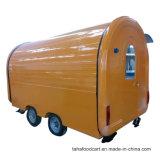 Caldo-Vendita del carrello mobile dell'alimento con le rotelle
