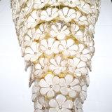 Europees Hotel Decoratief van de Witte Lamp van de Muur van de Luxe van de Bloem van het Glas
