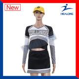 Healong Haut de la vente de vêtements de sport de gros d'impression numérique Cheerleading Jersey