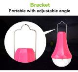 Lampe rechargeable solaire de DEL/lumière campante solaire portative avec traiter la bride