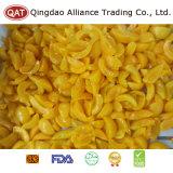 Fatias amarelas congeladas do pêssego da qualidade superior