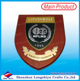 Metallo Crown UAE Award Plaques, Wooden Wall Plaques Medal con Wooden Base