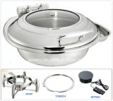 Induction rotondo Chafing Dish con Glass Window Lid (26036T)