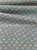 Пятно 100% клубники поплина законченный хлопка ткани зеленое