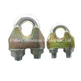 Оцинкованный регулируемые крепления подъемной Drop поддельных проволочного каната Clip