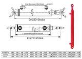 耳の台紙の二重代理ライトによってカスタマイズされる水圧シリンダ