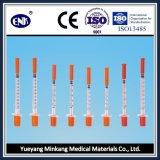 Seringa de insulina descartável médica, com agulha (0.3ml), com Ce & ISO Aprovado