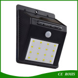 Eco-Friendly Waterproof IP65 Lampes solaires murales 4LED / 6LED 10LED / 12LED / 16LED / 20LED Outdoor Garden Solar Lamp
