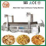 Tipo máquina de fritura contínua da correia do engranzamento para microplaquetas do Plantain da banana