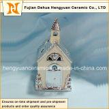 Ione Plating House Shape Ceramic Chimney per Christmas Decoration, (Home Decoration)
