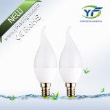 C37 3W 4W 6W 8W 10W 12W Bougie LED, E12 AVEC CE RoHS ASA UL