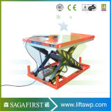 Facotry Behälter-Eingabe-Gabelstapler Scissor Rampe