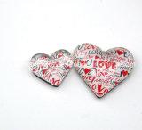 Forme de coeur aimant de Verre en cristal personnalisé/bouton aimants de réfrigérateur de verre
