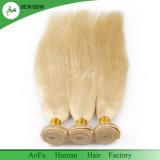 化学人間の毛髪のブロンドのバージンの毛の自然な毛無し