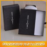 Papier noir Boîte à bijoux en carton avec poignées de tiroir