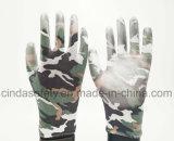 Красочные архив печати рабочие перчатки с PU покрытием