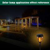 Altura ajustável Dança Solar LED chama trémula Lawn luz para a paisagem de Jardim