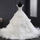 Satin, der Spitze-Kugel-China-Hochzeits-Kleid bördelt