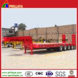 4 Aanhangwagen 80ton van de Vrachtwagen van Lowbed van de as de Semi met de Helling van de Lente