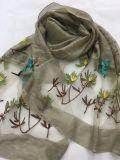 Nuovo stile all'ingrosso della sciarpa di seta Wj10301016 del poliestere del jacquard delle donne