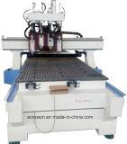 압축 공기를 넣은 시스템 CNC 다중 맨 위 대패, CNC 목제 대패 자동적인 3D 의 4 축선을%s 가진 Atc CNC 대패 회전하는 1530년 1325년